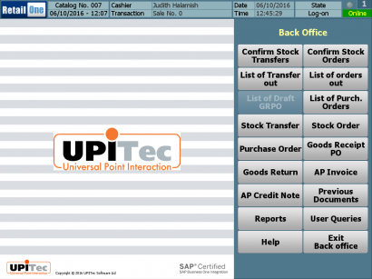 Back Office Module of the POS